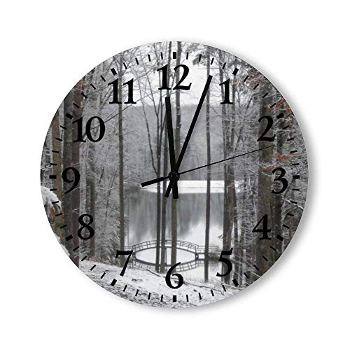Reloj de Pared Redondo Big Canoe Georgia, Relojes silenciosos rústicos, decoración del hogar de la cabaña del Campo