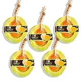 LABOTE Handgemachte thailändische Bio Naturseife Honig Melone mit typischem Duft, 5 Stück