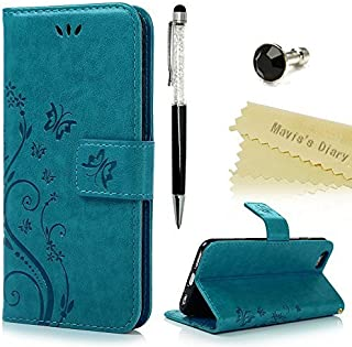 Funda iPhone 6s / 6,Libro de Cuero Impresión Con Tapa y Cartera,Correa de mano - Mavis's Diary Carcasa PU Leather Con TPU ...