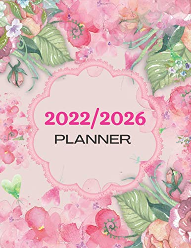 2022/2026 Planner: 60 Months Yearly Planner Monthly...