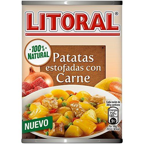 LITORAL Plato Preparado de Guiso de Patatas Estofadas con Carne, Sin Gluten, 420g