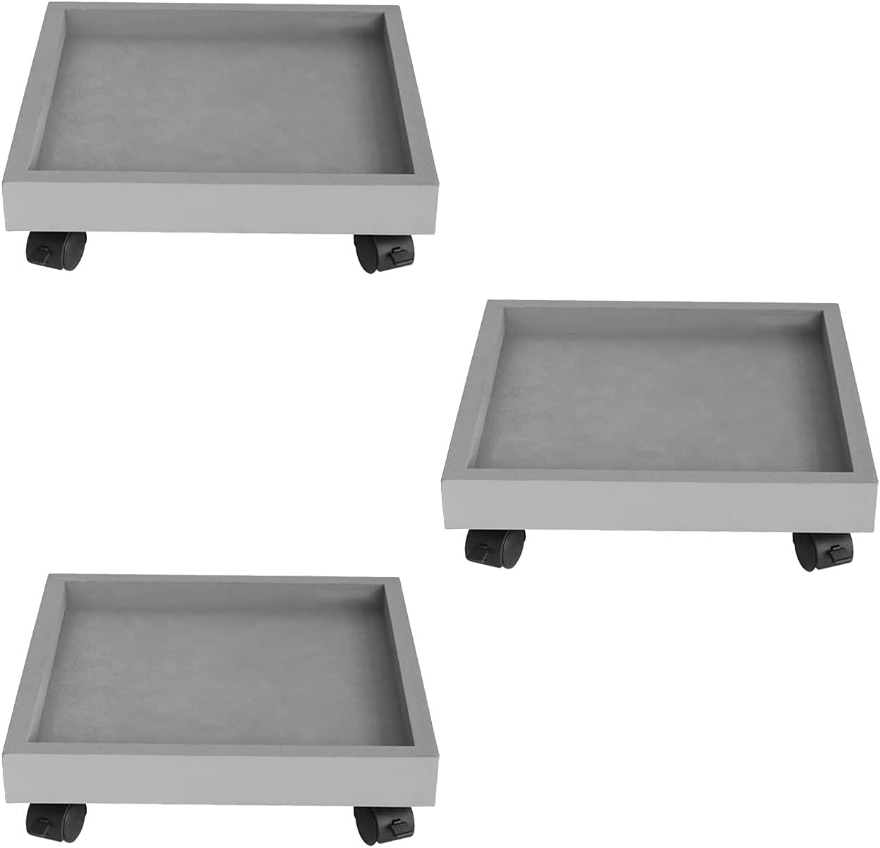 3 Pack Plant Holder Max 88% OFF with on Tray Wheels Universal lowest price