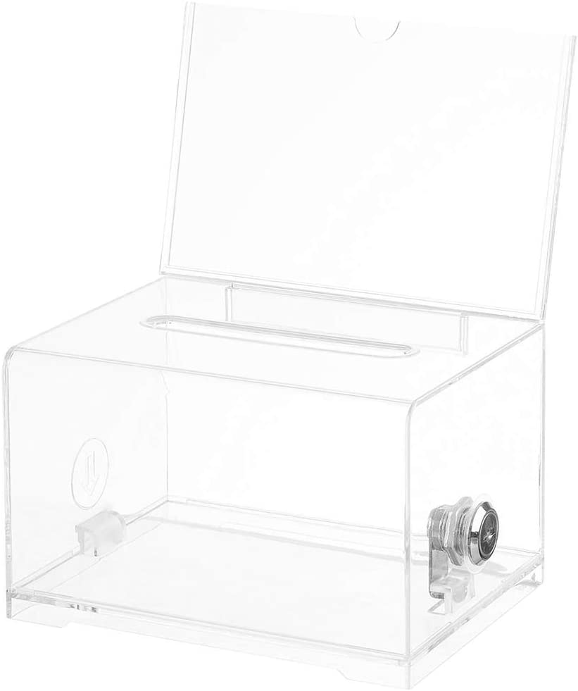 Acrylic Donation Box - Plastic for Gorgeous Year-end annual account Best V Countertop Container