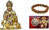 Artisans Orissa Hindu God Sri Sankatmochan Bajrangbali Hanuman Idol Metal Gold Home Decoration Statue