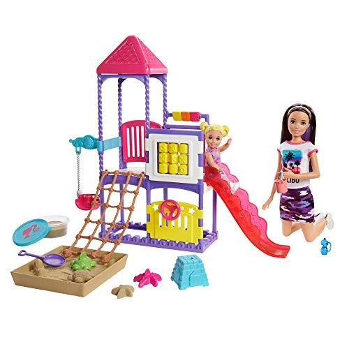 Barbie GHV89 - Skipper Babysitters inkl. Spielplatz und Puppen, Spielset zum Babysitter spielen, für Kinder ab 3 Jahren
