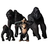 Animal Figures,4Pcs Realistic Chimpanzee Action Model,Plastic Wild Animal Learning Party Favors Toys,Educational Forest Farm Toys