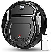 Lefant Robot Vacuum Cleaner, Auto Robotic Vacuumms, Upgraded 6D Collision Sensor, 1800pa WiFi/App/Alexa, Self-Charging, Super Quiet Mini Cleaning Robot for Pet Hair, Hard Floor, Low Pile Carpets, M201