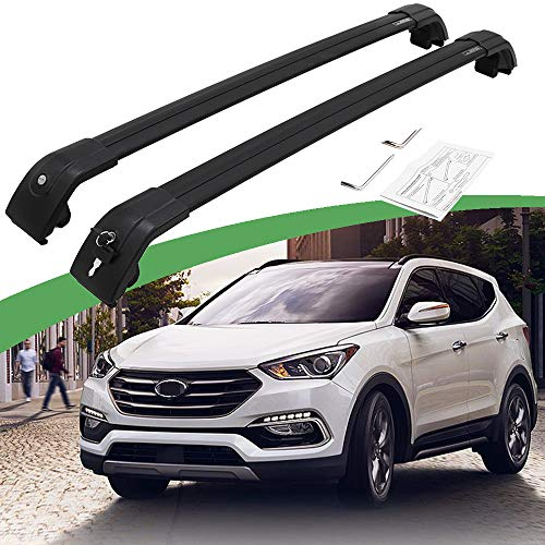 SnailAuto Black Luggage Rack Fit for 2013-2018 Hyundai Santa Fe Sport Cross Bars