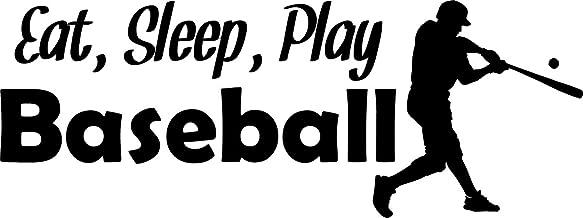 Vinyl Decal Eat Sleep Play Baseball Wall Decal Sports Wall Art