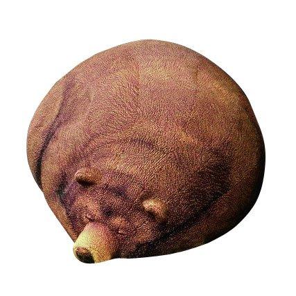 まったりまどろみ中のくまさんのアニマルフロアクッションスツール(Chic Sin Design チック シン デザイン) インテリア 日用雑貨 雑貨 家具 ソファ クッション くま ビーズクッション ぬいぐるみ 座布団 寝具 小物 置物 ユニーク オブジェ 手芸 スリーピンググリズリーベア Big Sleeping Grizzly Bear Beanbagの写真