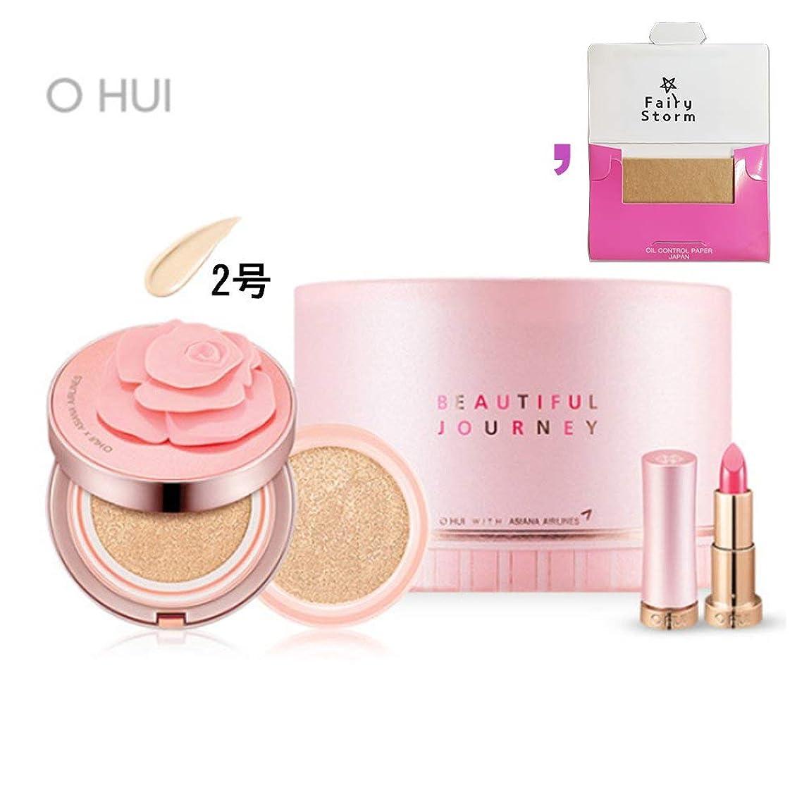混乱させるモノグラフ乙女[オフィ/ O HUI]ohui Ultimate Cover Moisture Rose Petal Cushion #02. 15g (Genuine) 1EA + 15g (Refill) 1EA/アルティメットカバーモイスチャーローズペタル2号+ [Sample Gift](海外直送品)