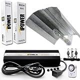 iPower 600 Watt HPS MH Digital Dimmable Grow Light System Kits Wing Reflector