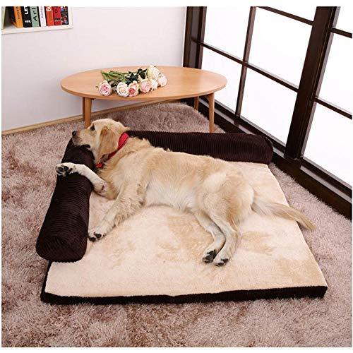 WXPC Pet Dog Sleeper Sofá Cama Extraíble Suave Descanso Caliente Casa Tumbona Mascotas Mat Nido Perros Grandes Colchón @ M
