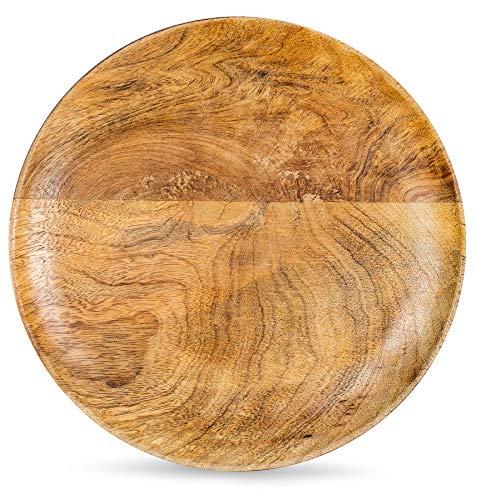 levandeo Holzschale Rund Mango Holz 30x30 cm Tischdeko Schale Obstschale Deko-Teller Aufbewahrung