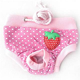 Baiepen Colorful Comfortable Cosy Pet Dog Cotton Tighten Strap Sanitary Physiological Pants Pet Underwear Diapers Pink
