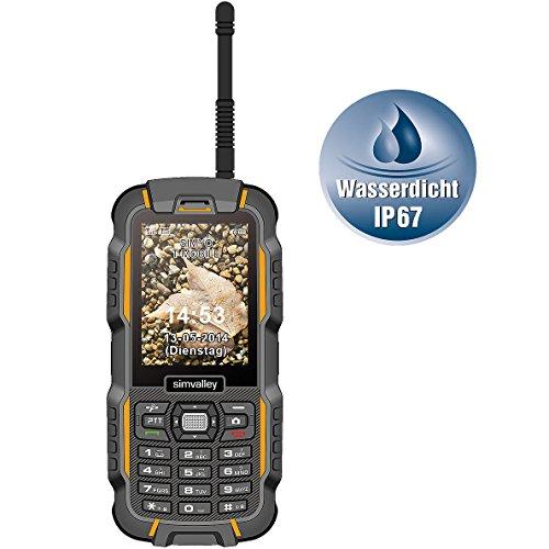 simvalley MOBILE Wasserdichtes Handy: Dual-SIM-Outdoor-Handy mit Walkie-Talkie XT-980 (Handy Funkgeräteset)