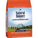 Natural Balance L.I.D. Limited Ingredient Diets Dry Dog Food, Sweet Potato & Fish Formula, 13 Pounds, Grain Free