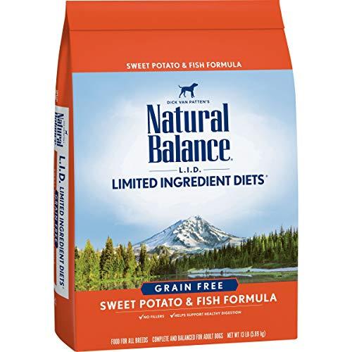 Natural Balance L.I.D. Limited Ingredient Diets Dry Dog Food, Sweet Potato & Fish Formula, 13 Pounds, Grain Free