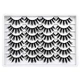Newcally Lashes False Eyelashes Long Dramatic Thick Volume Faux Mink Eyelashes 12 Pairs Pack