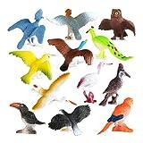 TOYANDONA 12 Pezzi di Figure di Uccelli Giocattoli Realistici in Plastica Figurine di Uccelli Toppers Torta di Compleanno Action Figures Animali Giocattoli Educativi per Bambini