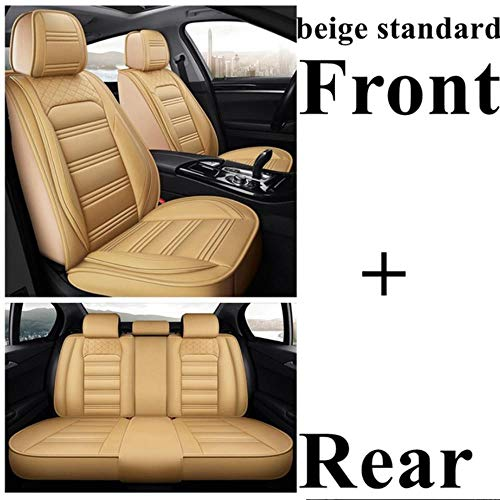 HIZH Coprisedile Universale per Land Rover Freelander 2 Discovery Sport Range Rover Velar Jaguar XE XF XJ E-Pace F-Pace I-Pace Xel Xfl Coprisedili Auto Accessori Auto,Beige Standard
