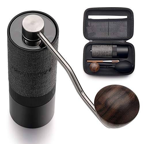 Manual Coffee Grinder - Normcore Hand Coffee Grinder with Adjustable Setting - Stainless Steel Conical Burr for Aeropress, Drip Coffee, Espresso, Filter, French Press, Pour over, Turkish Brew - Capacity 25g