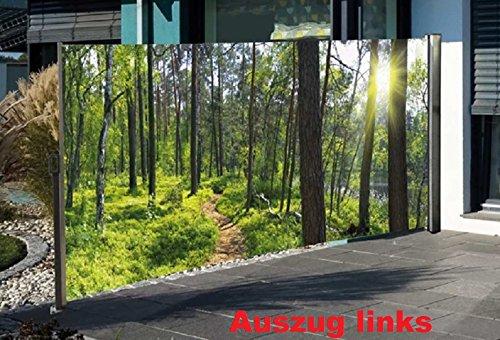 Westerholt Seitenmarkise mit Fotodruck Wald, Sichtschutz, Windschutz