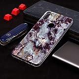 WEI RONGHUA ASUS Funda Funda de TPU Suave con diseño de mármol de Plum Blossom para ASUS Zenfone MAX Pro (M1) ZB601KL Estuche Protector (Color : Grey)