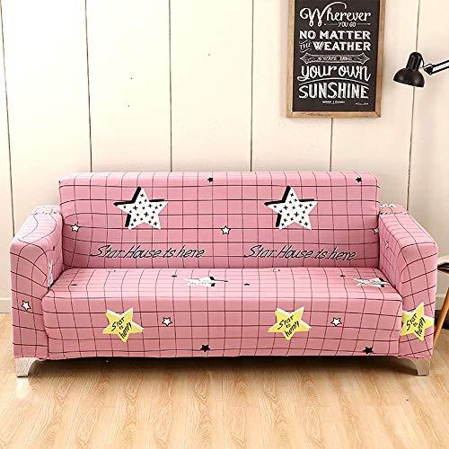 AGGF Funda elástica para sofá Funda de sofá Estampada 1 2 3 4 Plazas Protector de Muebles Four Seasons Universal con una Funda de Almohada Lavable Durable A Prueba de Polvo