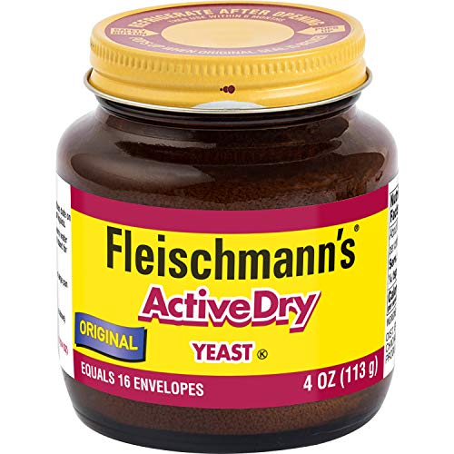 Fleischmann's Active Dry Yeast, The original active dry yeast, Equals 16 Envelopes, 4 oz Jar (Pack of 2)