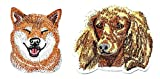 PARITA Set 2 Pcs. Golden English Cocker Spaniel Dog and Corgi Dog Breed Embroidered Patches Character Cartoon Kids Embroidery Patch Logo Jacket Polo T-Shirt Hat Bag Craft Decorative Repair (5)