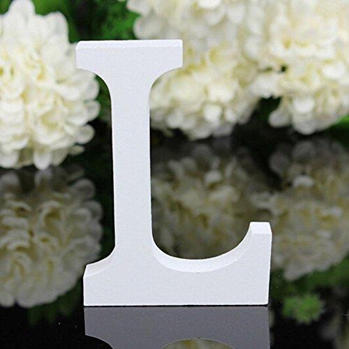 Decorativo Legno Lettere, Appeso Parete 26 Lettere Legno Alfabeto Parete Lettera per Camera Matrimonio Compleanno Partito Casa Decor, Gspirit (L)