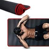 WPC Brands soporte de la estera de yoga 10 mm extra grueso antideslizante Yoga Mat caucho natural NBR Fitness Deportes gimnasio pilates almohadillas regalo Yoga Mat