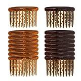 16 Stück Haarspange Kämme Kunststoff Haarkämme für feines Haar und Brautschleier