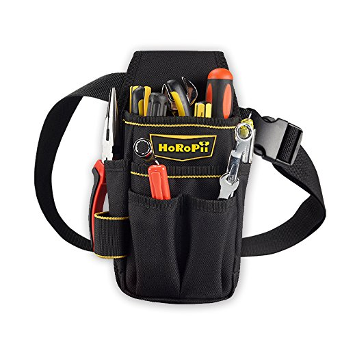 HoRoPii プロ職人 匠仕様 作業用 工具袋 腰袋 ウエストバッグ ベルト 付き 多様性バージョン ホルダー付 区...