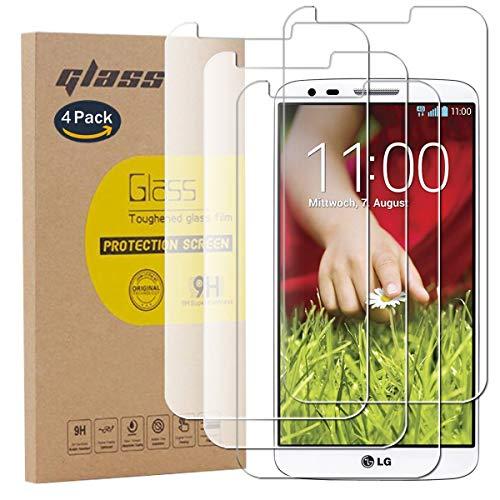 pinlu [4 Pack Protector de Pantalla de Cristal para LG G2 Protector...