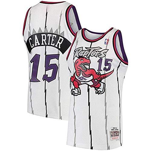 Raptors Basketball Jersey # 15 Summer Men Carter Shirt Basketball Jersey Tops Camisetas de Baloncesto,3,L