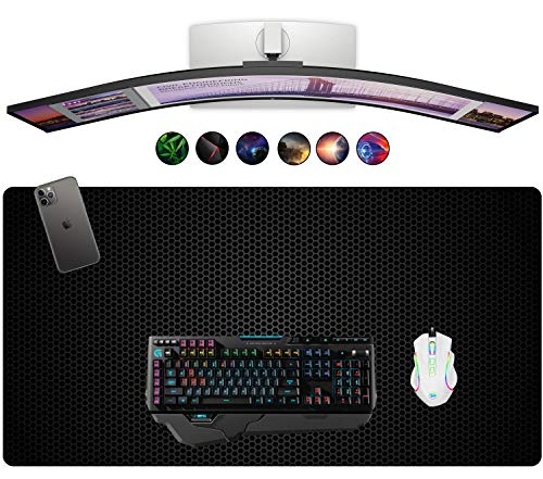 """French Koko Mouse Pad XL 30.7"""" x 14.9"""", Gaming Mouse, Computer Mouse Pads, Large Mouse Pad, Gaming Desktop, Gaming Desk Mat, Gaming Accessories, Mouse Gaming (Metal Workspace)"""