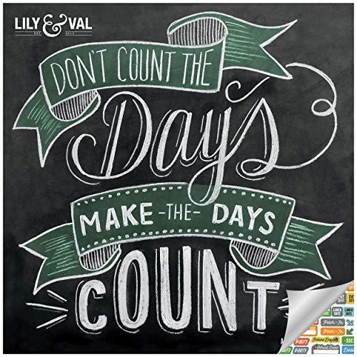 Chalkboard Inspiration - Lily & Val Calendar 2021 Bundle - Deluxe 2021 Motivational Wall Calendar with Over 100 Calendar Stickers (Chalkboard Art Gifts, Office Supplies)