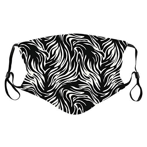 1 Pieza diseño de Leopardo Proteccion para Adultos con Correa de Oreja Ajustable y Bolsa de Papel de Filtro