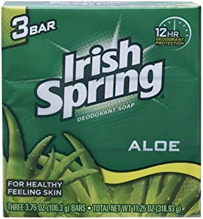 Aloe Deodorant Soap By Irish Spring for Unisex, 3 Count (Pack of 7)