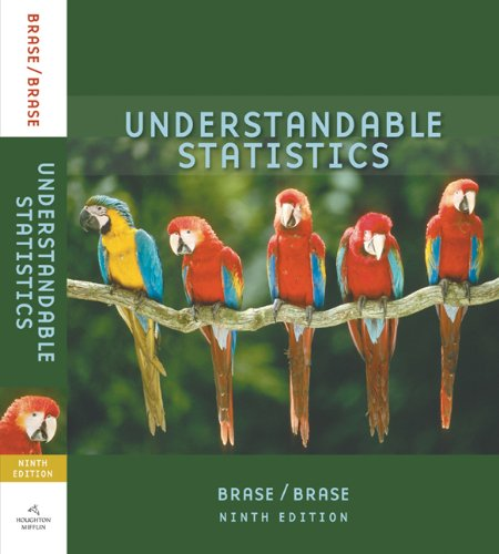 Student Solutions Manual for Brase/Brase's Understandable Statistics: Concepts and Methods, 9th