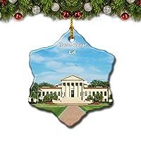 バトンルージュルイジアナ州立大学ルイジアナ米国クリスマスツリーの飾りクリスマスオーナメントトラベルギフトのお土産3インチ磁器両面