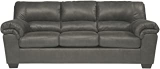 Signature Design by Ashley - Bladen Contemporary Plush Upholstered Sofa, Slate Gray