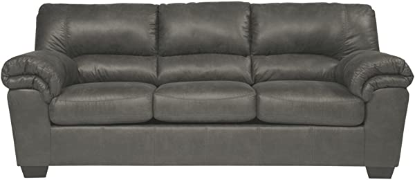 Ashley Furniture Signature Design Bladen Contemporary Plush Upholstered Sofa Slate Gray