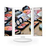 Makeup Mirror with Lights, 72 LED, 3 Colors Lighting Mode, 1x 2x 3x 10x Magnification - Lighted Make up Vanity Mirror, Gifts for Christmas and Birthday Present