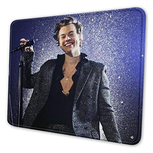 Icemaris Harry Styles Gaming Mouse Pad Mat Mousepad Thick Non-Slip Rubber Rectangle Computers Laptop Mouse Pads for Home Office 7 X 8.6 in