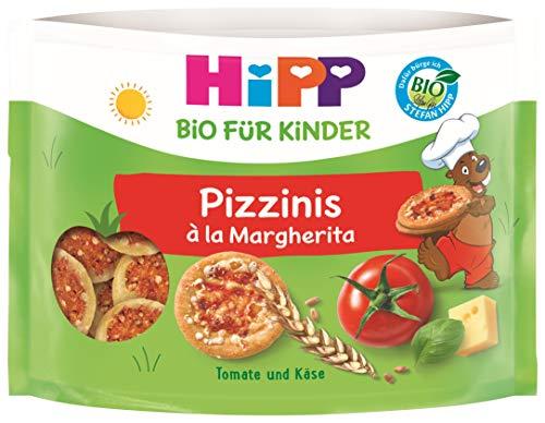 Hipp Kindernahrung Kinder Bio Knabberprodukte Pizzinis, 6er Pack (6 x 50 g)