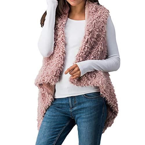 LISTAH Faux Fur Sweater Vest Women Sleeveless Warm Waistcoat Coat Jacket Outwear