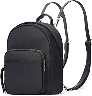 HaloVa Women's Backpack, Mini Shoulders Bag, Multifunction Daypack Satchel Crossbody Bag for Girls Lady, Black